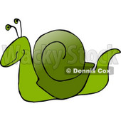 Green Snail Clipart Illustration © Dennis Cox #5517