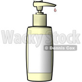 Blank Labeled Plastic Bottle of Lotion Clipart Illustration © Dennis Cox #5520
