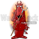 Man Wearing a Halloween Devil Costume Clipart Illustration © Dennis Cox #5593