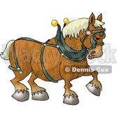 Belgian Heavy Draft Horse Clipart Illustration © Dennis Cox #5596