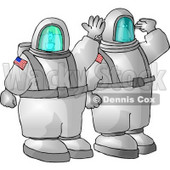 American Man and Woman, Astronauts, Traveling to Space On a NASA Shuttle Clipart Illustration © djart #5603