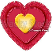 Valentine Heart Clipart Illustration © Dennis Cox #5735