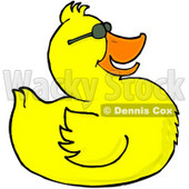 Happy Yellow Duck Wearing Sunglasses Clipart Illustration © Dennis Cox #5740