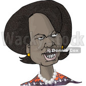 66th United States Secretary of State, Condoleezza Rice, Caricature Clipart Illustration © Dennis Cox #5826