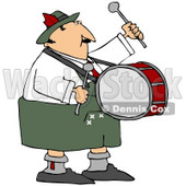 Royalty-Free (RF) Clipart Illustration of an Oktoberfest Man Banging The Drums © djart #59112