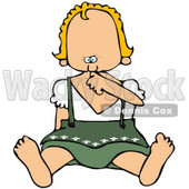 Royalty-Free (RF) Clipart Illustration of an Oktoberfest Baby Girl © Dennis Cox #59114