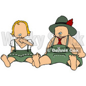 Royalty-Free (RF) Clipart Illustration of an Oktoberfest Baby Boy And Girl © djart #59118