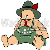 Royalty-Free (RF) Clipart Illustration of an Oktoberfest Baby Boy © Dennis Cox #59120
