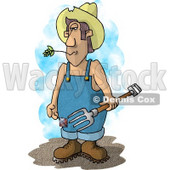Farmer with a Pitchfork Clipart Picture © Dennis Cox #5921
