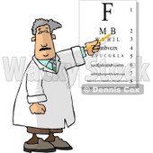 Examination of Eyes in an Ophthalmology Clinic Clipart Picture © Dennis Cox #5926