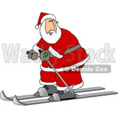 Santa Skiing On Snow Clipart Picture © Dennis Cox #5932