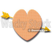 Gold Arrow Through Heart Clipart Picture © djart #5934