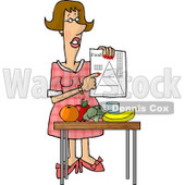 Female Dietitian Teaching the Public About Food and Nutrition Clipart Picture © djart #5951