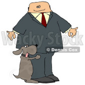 Bad Dog Humping a Businessman's Leg Clipart Picture © djart #5955