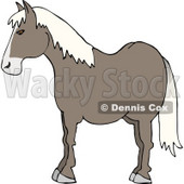 Profile of a Horse's Side Clipart Picture © djart #5962