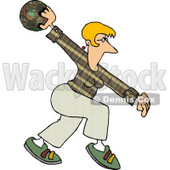 Professional Female Bowler Throwing the Ball Clipart Picture © djart #5969