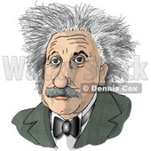 Albert Einstein Clipart Picture © djart #5971