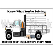 Royalty-Free (RF) Clipart Illustration of a Worker Kneeling To Inspect The Bottom Of His Work Truck © djart #59716