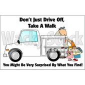 Royalty-Free (RF) Clipart Illustration of a Man Setting Out Cones Near Kids © djart #59718