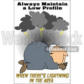 Royalty-Free (RF) Clipart Illustration of a Worker Man On The Ground Under Lightning © djart #59723