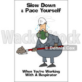 Royalty-Free (RF) Clipart Illustration of a Worker Man Wearing A Respirator And Shoveling © djart #59726