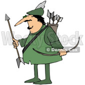 Royalty-Free (RF) Clipart Illustration of Robin Hood With His Arrows And Bow © djart #59782