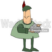 Royalty-Free (RF) Clipart Illustration of Robin Hood Carrying A Rock © djart #59812
