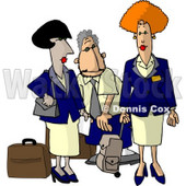 Commercial Airline Flight Attendants Clipart Picture © djart #5983