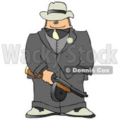 Gangster Armed with a Tommy Gun Clipart Picture © djart #5987