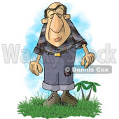 Giant Man with a Condition Known as Acromegaly Clipart Picture © Dennis Cox #6000