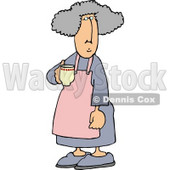 Housewife Drinking a Cup of Coffee in the Morning Clipart Picture © Dennis Cox #6013