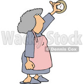 Housewife Adjusting the Temperature On a Thermostat Clipart Picture © djart #6014