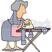 Housewife Ironing Clothes Clipart Picture © Dennis Cox #6016