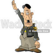 Hitler Adolf Saluting a Crowd at a Rally Clipart Picture © djart #6023