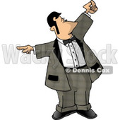 Dining Room Attendant Who's In Charge of the Waiters and the Seating of Customers Clipart Picture © djart #6024