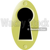 Skeleton Keyhole Clipart Picture © djart #6029