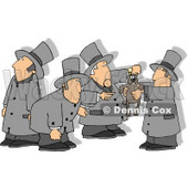 Men With Shadows, Holding up the Groundhog on Groundhog Day Clipart © Dennis Cox #6033