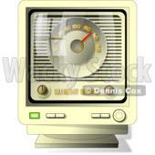 Old-fashioned Online Internet Radio Clipart Picture © Dennis Cox #6042