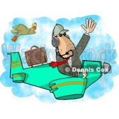 Private Pilot/Businessman Flying a Plane Clipart Picture © Dennis Cox #6066