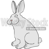 Pet Rabbit with Big Ears Clipart Picture © djart #6074