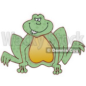 Goofy Looking Frog Jumping Clipart Picture © djart #6076