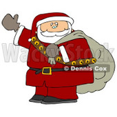 Santa Claus is Coming to Town Clipart Picture © Dennis Cox #6080
