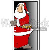Santa Claus Standing in a Doorway Clipart Picture © Dennis Cox #6082
