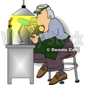 Male Jeweller Fixing Gold Wedding Ring Clipart Picture © Dennis Cox #6089
