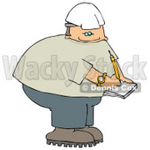 Male Worker Writing On Notepad Clipart Picture © djart #6090