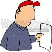 Man Reading a Letter Clipart Picture © djart #6102