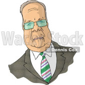 Caricature of Karl Christian Rove Clipart Picture © djart #6106