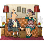 Male Life Insurance Sales Agent Talking to a Client Clipart Picture © Dennis Cox #6108