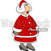 Mrs Santa Claus in Her Red and White Suit Clipart © djart #6118