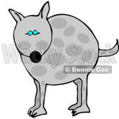 Chubby Spotted Dog Clipart Illustration © Dennis Cox #6131